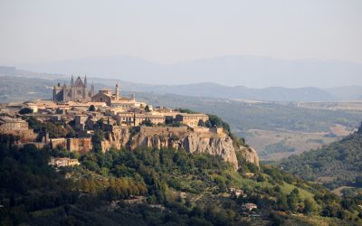 Orvieto is a city and comune in Province of Terni, southwestern Umbria, Italy situated on the flat summit of a large butte of volcanic tuff